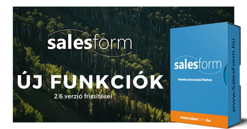SalesForm funkciók és várható fejlesztések