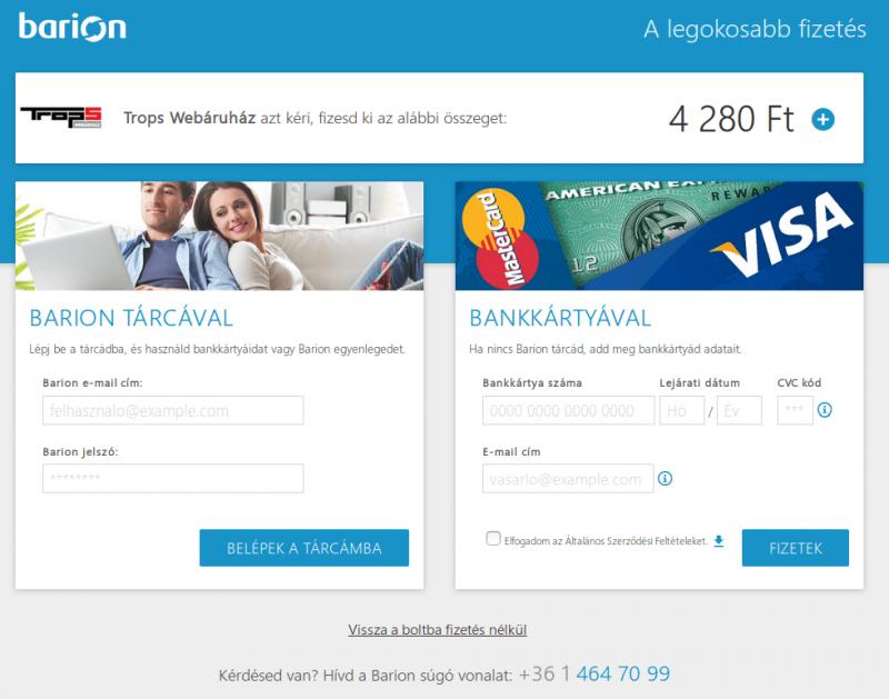 Barion payment, avagy bankkártyás fizetés