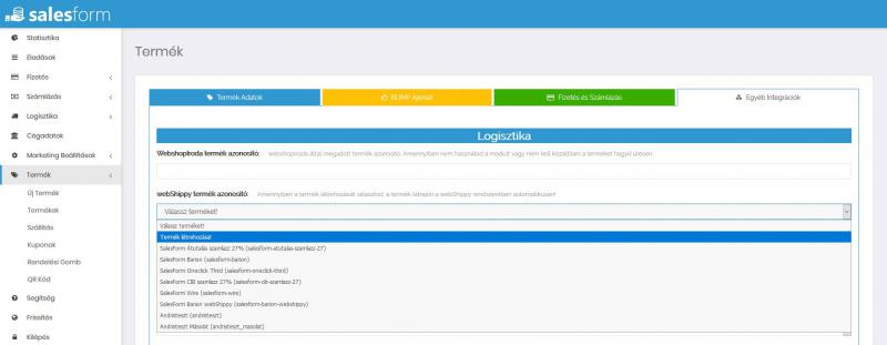 Webshippy integráció
